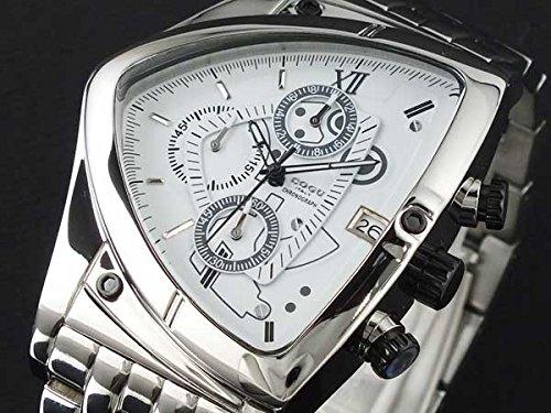 [コグ] COGU 腕時計 クロノグラフ クォーツ メタルベルト C43M-WH トライアングル