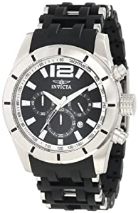 Invicta Men's 11247 Sea Spider Chronograph Black Textured Dial Black Polyuret...