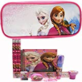 Disney Frozen Pencil Case with Stationery Set - Hot Pink