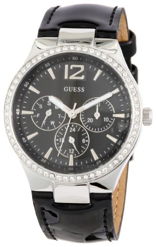 Guess Ladies Analogue Watch W11586L1 with Black Dial