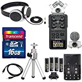 Zoom H6 Six-Track Portable Recorder with Interchangeable Microphone System with Deluxe Accessory Bundle