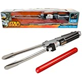 "Star Wars Lightsaber BBQ Tongs with Sounds - Barbecue Like a Jedi (22"" Long)"