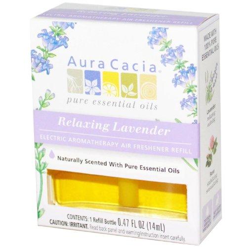 Aura Cacia Electric Aromatherapy Air Freshener Refill Relaxing Lavender -- 0.52 Fl Oz