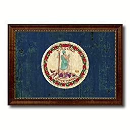 Vermont State Vintage Flag Art Collection Western Shabby Cottage Chic Interior Design Office Wall Home Decor Gift Ideas, 27\