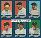 1927 Yankees Murderers Row Complete Mint 30 Card Reproduction Set Based Upon the Oil Paintings Done By Ron Lewis. Set Includes Lou Gehrig, Babe Ruth, Earle Combs, Ed Barrow, Bob Shawkey, Bob Meusel, Urban Shocker, Herb Pennock, Miller Huggins, Tony Lazzeri, Mark Koenig, George Pipgras and Others.
