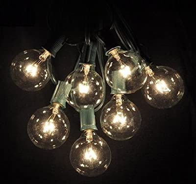 100 Foot Globe Patio String Lights - Set of 100 G50 Clear Bulbs