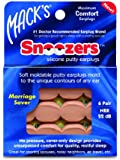 Macks Snoozers Silicone Putty Earplugs, 6-Pair (Pack of 2)