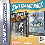 Tony Hawk's Underground & Kelly Slater's Pro Surfer (2 in 1 Game Pack ) (GBA)