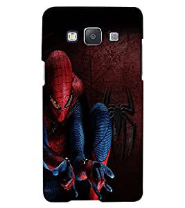 Fuson Spiderman Back Case Cover for SAMSUNG GALAXY A5 - D3693