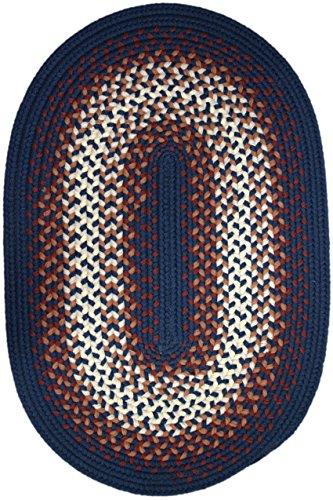Rhody Rug Monaco Navy 2-Feet by 3-Feet Braided Rug