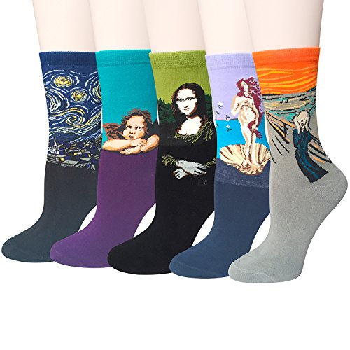 Famous Art Painting Funny Crew Socks