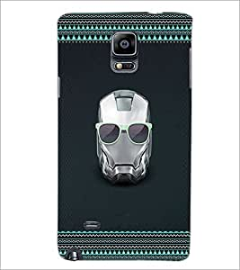 PrintDhaba Mask D-2513 Back Case Cover for SAMSUNG GALAXY NOTE 2 (Multi-Coloured)