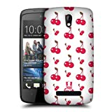 Head Case Designs Cherries Fruit Patterns Protective Snap-on Hard Back Case Cover for HTC Desire 500