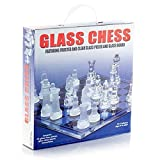 DIXON SMALL GLASS CHESS FOR CHESS LOVERS