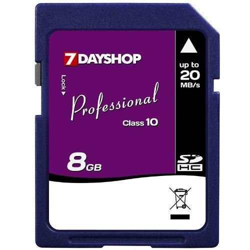 7dayshop Professional Carte mémoire SDHC haute vitesse Classe 10 8Go