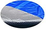 MidWest Canvas SC-BS-000024 Space Age 18 by 34-Feet Oval Above Ground Solar Cover, Blue/Silver