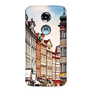 Cute Prague Street Multicolor Print Back Case Cover for Moto X 2nd Gen