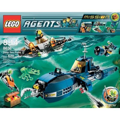 Lego Agents Limited Edition Exclusive Set #8636 Mission 7: Deep Sea Quest Amazon.com