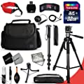 Xtech DSLR Camera Complete ACCESSORIES Kit for Canon EOS 70D 60D 5D 5DS 7D Mark II 5D Mark II EOS Rebel T6i T6S T5i T5 T4i T3i T3 T2i SL1 EOS 760D 750D 700D 650D 600D 550D 8000D 1200D 1100D 100D EOS M3 M2 T1i XTi XT SL1 XSi 7D Mark II DSLR Cameras Include