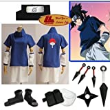 Japanese Anime Naruto Cosplay Uchiha Sasuke Cosplay Costume Naruto Clothes Full Set