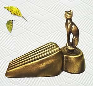 Brass decorative cat door stopper door stops office products - Cat door stoppers ...