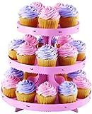 Wilton Light Pink Borders Cupcake Stand