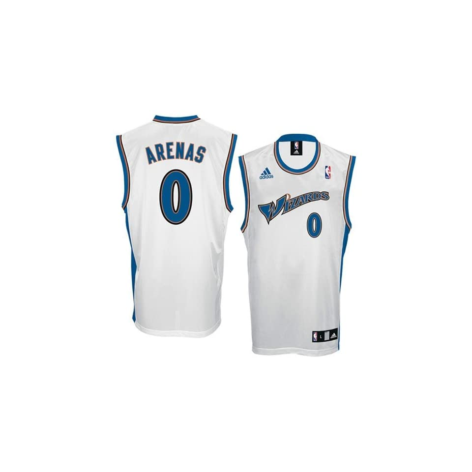 5a1918ff4 NBA adidas Washington Wizards  0 Gilbert Arenas White Replica Basketball  Jersey