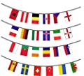 Euro 2016 Bunting - 24 Flags - Indoor and Outdoor Use - 10m Length - Football Bunting
