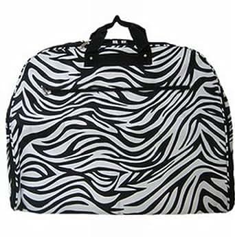 Black White Zebra Print Garment Bag Dance Cheer Luggage