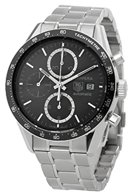 TAG Heuer Men's CV2010BA0794 Carrera Black Dial Watch from TAG Heuer