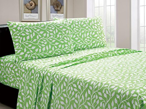 Beverly-Hills-1800-Series-Ultra-Soft-Printed-3-PC-Sheet-Set-Twin-Branch