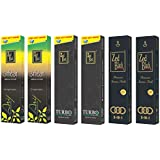 Zed Black Premium Incense Sticks Combo Of 3 In1 Large (2 Packs) , Arij Large (2 Packs) , Turbo Large (2 Packs)