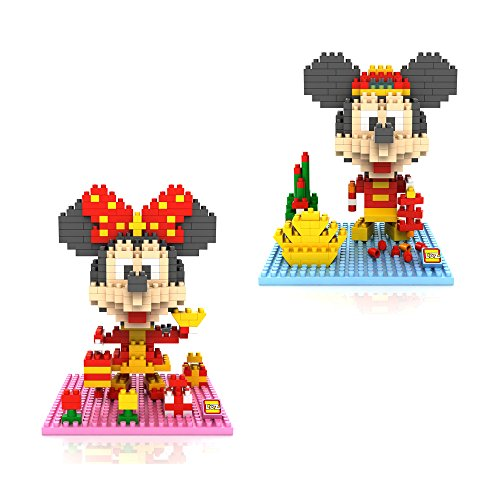 Mikey Minnies Chinese Happy New Year Style 2 Box- LOZ NanoBlocks Micro Diamond DIY Educational Toys