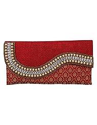 Craftstages Ethnic Designer Jute Sling Bag For Women (Material: Jute, Colour: Red) - B00VRF06PG
