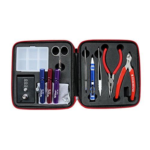 vape tool screwdriver set w case portable micro coiling kit e cigarette vapi. Black Bedroom Furniture Sets. Home Design Ideas