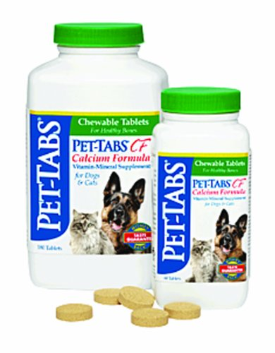 Pet-Tabs 8052 Pet-Tabs Cf Chewable Tablets - Calcium Formula 180 Count