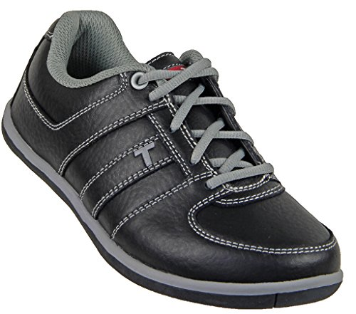 True Linkswear Juniors True Champ Golf Shoe Black/Grey 2.5 Junior