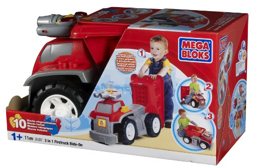 Mega Bloks 3-in-1 Fire Truck Ride-On (Fire Truck Walker compare prices)
