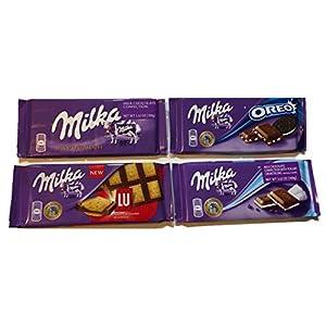 Milka , (Milk Chocolate) Top Selling Variety 4 Pack (4x 100g each)
