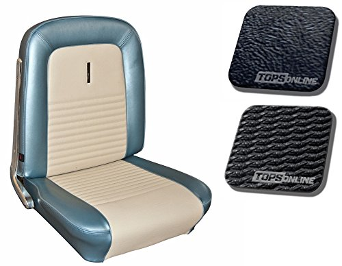 1967 Ford Mustang, Deluxe Bucket Seats, Full Set (Front and Rear) - Sierra Grain Vinyl with Comfortweave Insert -- Fits Fastback/Shelby Only (Black) (67 Ford Seat Covers compare prices)