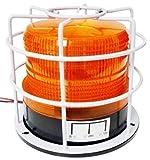 BIG Bite 12V 24V 兼用 丸型 LED 警告灯 非常灯 黄色 船舶 夜間照明 安心 安全 対策 フラッシュ ストロボ 配線用 エレクトロタップ 2個付 (丸型・黄色・ガード付)