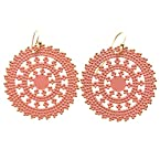 Peach Cutout Earrings