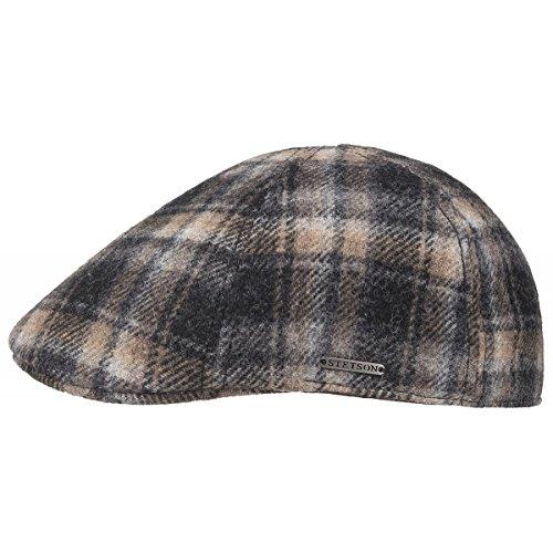 Texas Woolrich Berretto Piatto Stetson berretto becco anatra flat cap L/58-59 - nero