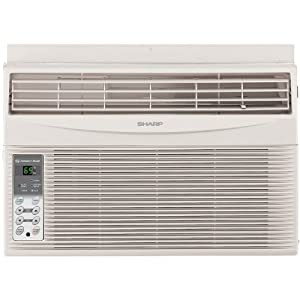 Sharp Electronics AFS60RX 6,000 BTU 115-Volt Window-Mounted Air Conditioner with Rest Easy Remote Control by Sharp