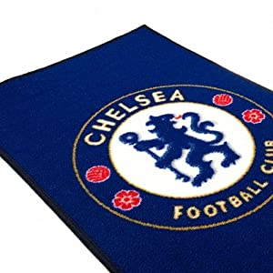 Chelsea F.C. Rug- bedroom rug- approx 80cm x 50cm- 100%Polyamide- machine washable- on a header card- Official Football Merchandise from Rugs / Cushions / Bins