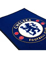 Chelsea F.C. Rug- bedroom rug- approx 80cm x 50cm- 100%Polyamide- machine washable- on a header card- Official Football Merchandise