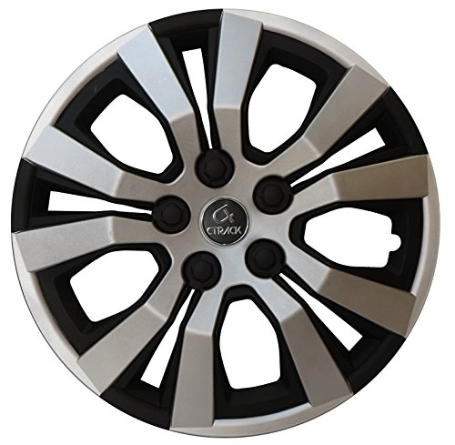 """CTRACK -HIGH IMPACT ABS WHEEL COVERS -SILVER/BLACK -14"""" (SET OF 4 PCS)"""