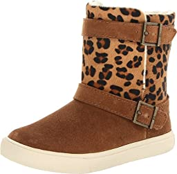 Polo Ralph Lauren Kids Brodie Boot (Toddler),Snuff Suede/Leopard Haircalf,5 M US Toddler