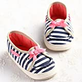 etrack-online beb� ni�a Cute rayas Prewalker con lazo Mary Jane zapatos as the picture Talla:6-12 meses