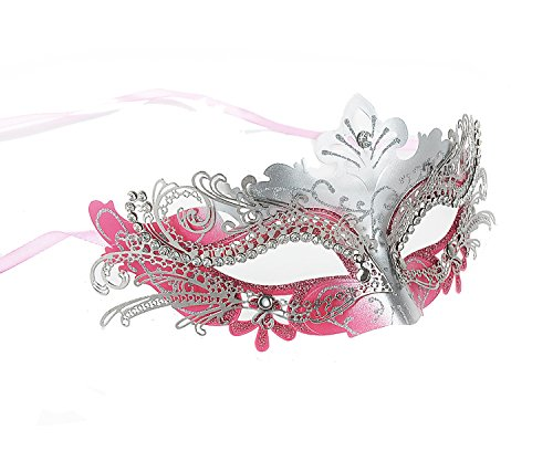 Masquerade Mask Party Mask Rhinestone Metal Cosplay Half Face Venetian Mask
